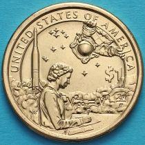 США 1 доллар 2019 год. Сакагавея. Индейцы в космической программе.
