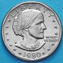США 1 доллар 1980 год. Сьюзен Энтони. D