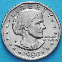 США 1 доллар 1980 год. Сьюзен Энтони. S