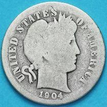 США дайм Барбера (10 центов) 1904 год. Филадельфия. Серебро.