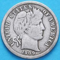 США дайм Барбера (10 центов) 1909 год. Филадельфия. Серебро.