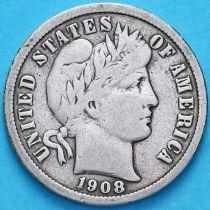 США дайм Барбера (10 центов) 1908 год. Сан-Франциско. Серебро.