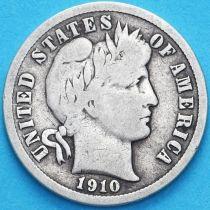 США дайм Барбера (10 центов) 1910 год. Филадельфия. Серебро.