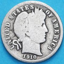 США дайм Барбера (10 центов) 1910 год. Денвер. Серебро.
