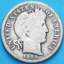 США дайм Барбера (10 центов) 1909 год. Новый Орлеан. Серебро.