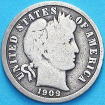 США дайм Барбера (10 центов) 1909 год. Сан-Франциско. Серебро.