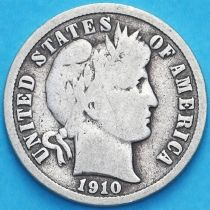 США дайм Барбера (10 центов) 1910 год. Сан-Франциско. Серебро.
