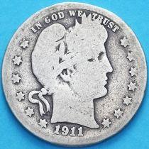 США квотер Барбера (25 центов) 1911 год. Сан-Франциско. Серебро.