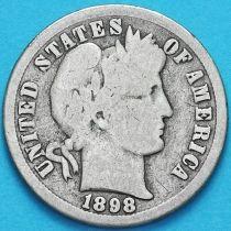 США дайм Барбера (10 центов) 1898 год. Новый Орлеан. Серебро.