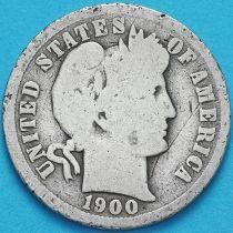 США дайм Барбера (10 центов) 1900 год. Новый Орлеан. Серебро.