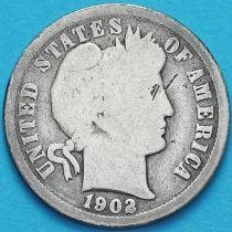 США дайм Барбера (10 центов) 1902 год. Новый Орлеан. Серебро.