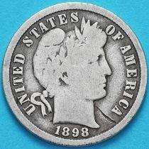 США дайм Барбера (10 центов) 1898 год. Сан-Франциско. Серебро.
