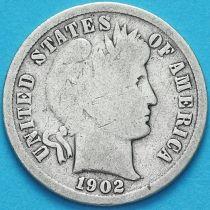 США дайм Барбера (10 центов) 1902 год. Сан-Франциско. Серебро.