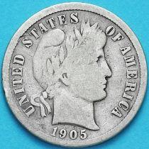 США дайм Барбера (10 центов) 1905 год. Сан-Франциско. Серебро.