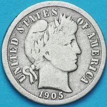 США дайм Барбера (10 центов) 1905 год. Новый Орлеан. Серебро.
