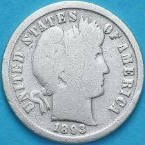 США дайм Барбера (10 центов) 1893 год. Филадельфия. Серебро.