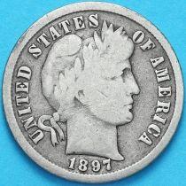 США дайм Барбера (10 центов) 1897 год. Филадельфия. Серебро.