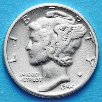 США 10 центов (дайм) 1944 год. S. Серебро