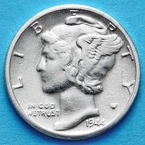 США 10 центов (дайм) 1944 год. D. Серебро