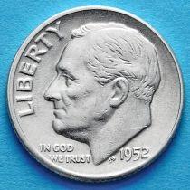 США 10 центов (дайм) 1952 год. Филадельфия. Серебро