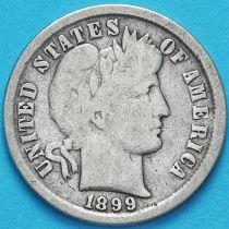 США дайм Барбера (10 центов) 1899 год. Филадельфия. Серебро.