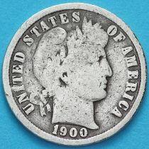 США дайм Барбера (10 центов) 1900 год. Филадельфия. Серебро.