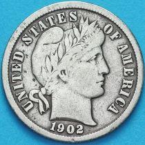 США дайм Барбера (10 центов) 1902 год. Филадельфия. Серебро.