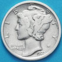 США 10 центов (дайм) 1925 год. Филадельфия. Серебро.