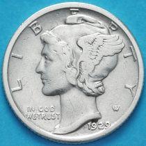 США 10 центов (дайм) 1929 год. Филадельфия. Серебро.