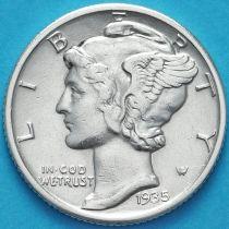 США 10 центов (дайм) 1935 год. Филадельфия. Серебро.