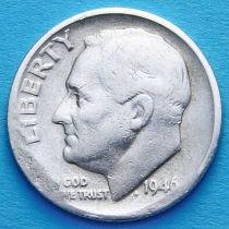 США 10 центов (дайм) 1946 год. S. Серебро