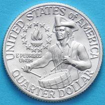 США 25 центов 1976 год. 200 лет независимости. S. Серебро.