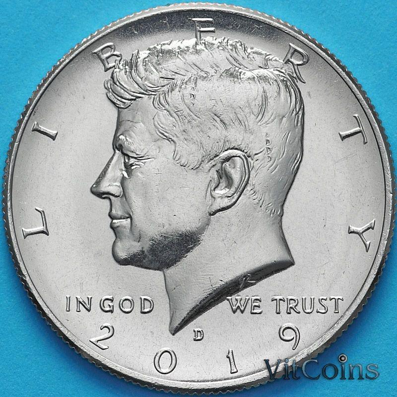 Монета США 50 центов 2019 год. D. Кеннеди.