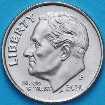 США 10 центов (дайм) 2020 год. Р