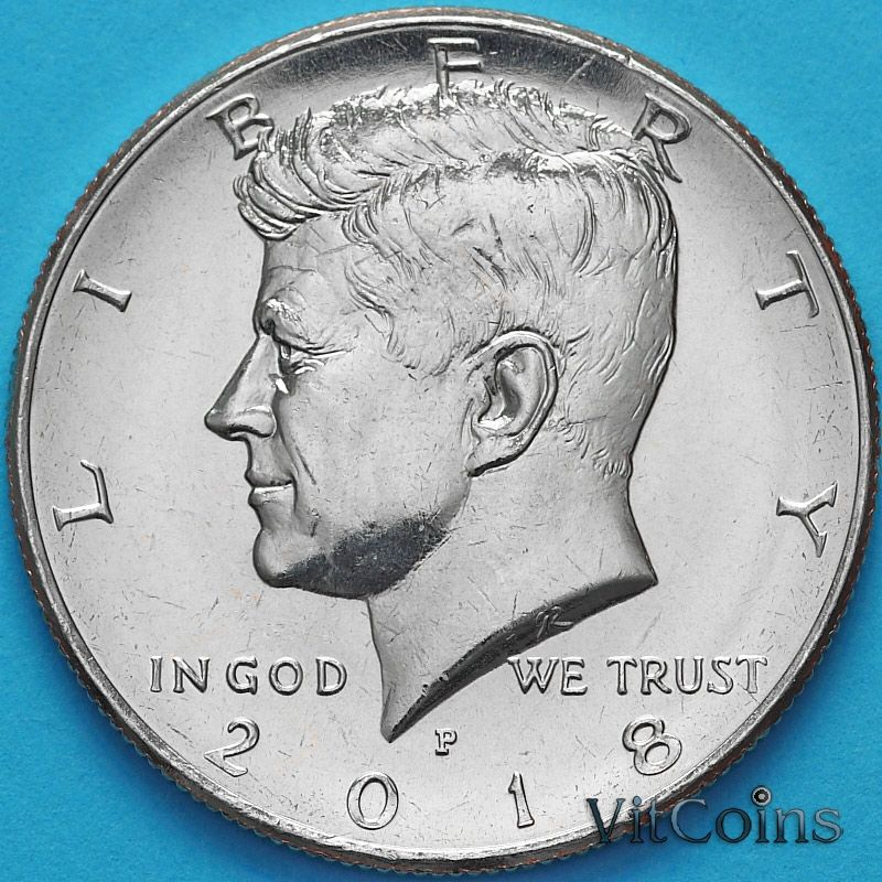 Монета США 50 центов 2018 год. Р. Кеннеди.