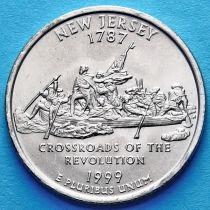 США 25 центов 1999 год. Нью-Джерси.