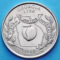 США 25 центов 1999 год. Джорджия.