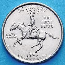 США 25 центов 1999 год. Делавэр.