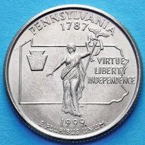США 25 центов 1999 год. Пенсильвания.