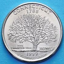 США 25 центов 1999 год. Коннектикут.