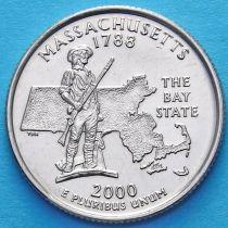 США 25 центов 2000 год. Массачусетс.