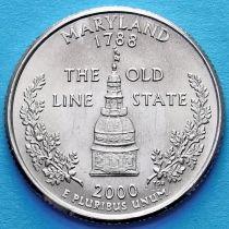 США 25 центов 2000 год. Мэриленд.