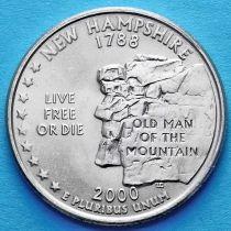 США 25 центов 2000 год. Нью-Гемпшир.