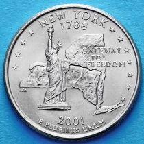 США 25 центов 2001 год. Нью-Йорк.