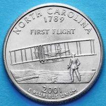 США 25 центов 2001 год. Северная Каролина.