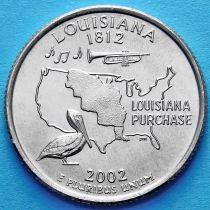 США 25 центов 2002 год. Луизиана.