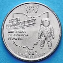 США 25 центов 2002 год. Огайо.