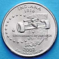 США 25 центов 2002 год. Индиана.