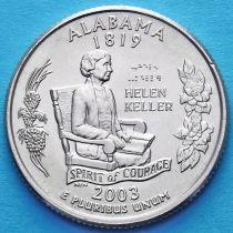 США 25 центов 2003 год. Алабама.