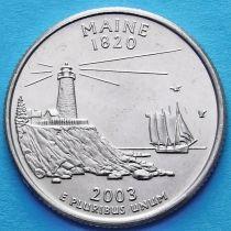 США 25 центов 2003 год. Мэн.